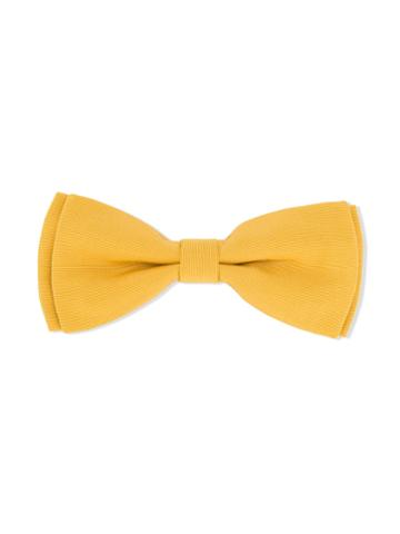 Hucklebones London - Bow Hairclip - Kids - Cotton/polyester - One Size, Yellow/orange