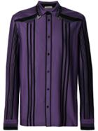 Bottega Veneta Dark Lilac Nero Cotton Shirt - Pink & Purple
