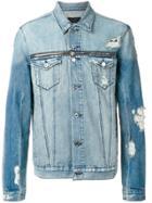 Rta Distressed Denim Jacket - Blue