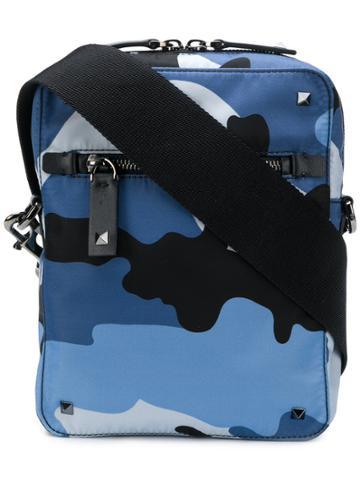 Valentino Camouflage Cross-body Bag - Blue