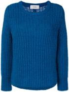 Humanoid Crew Knitted Jumper - Blue