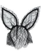 Maison Michel Lace Bunny Ears Headband - Black