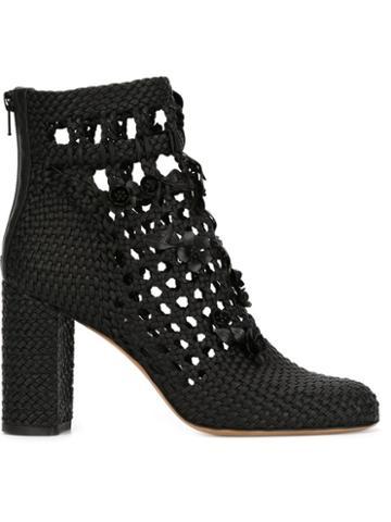 Valentino Garavani Woven Ankle Boots