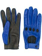 Manokhi Contrast Gloves - Blue