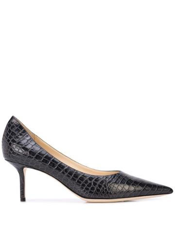 Jimmy Choo Love 65mm Crocodile-effect Pumps - Black