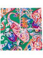 Kenzo Paisley Print Scarf - Green