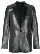 Garcons Infideles Lurex Smoking Jacket - Black