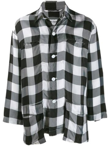 Comme Des Garçons Pre-owned Lightweight Checked Shirt - Black