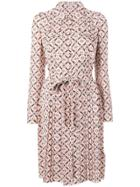 Bottega Veneta Printed Shirt Dress - Pink