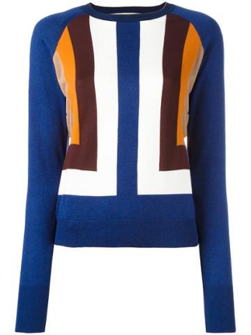 Marni Intarsia Geometric Jumper, Women's, Size: 38, Silk/polyamide