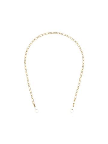 Marla Aaron 14kt Yellow Gold Biker Chain Necklace - Metallic