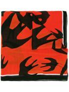 Mcq Alexander Mcqueen 'swallow Swarm' Scarf - Multicolour