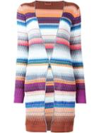 Missoni Knit Pattern Striped Cardigan