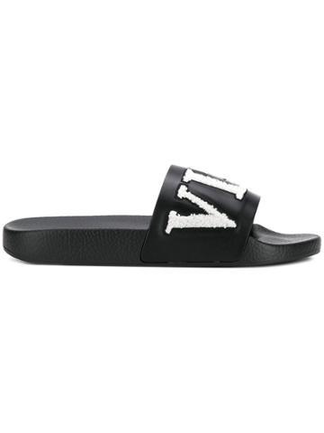 Valentino Logo Slides - Black