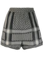 Cecilie Copenhagen Embroidered Shorts - Black