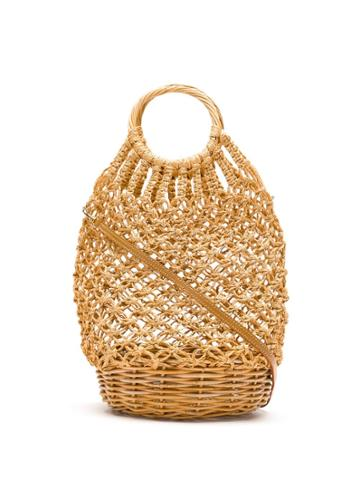 Serpui Macramé Bucket Bag - Neutrals