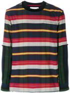 Sacai Striped Sweatshirt - Multicolour
