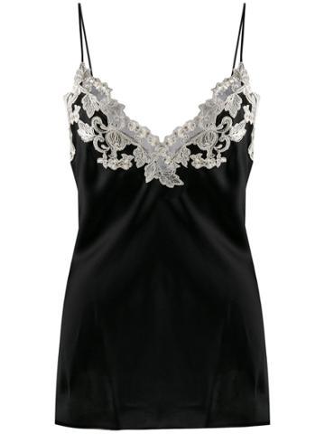 La Perla Maison Lace Trim Camisole - Black