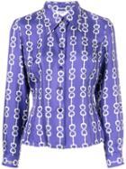 Céline Pre-owned Horsebit Print Shirt - Purple