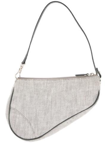 Christian Dior Vintage Saddle Hand Bag - Grey