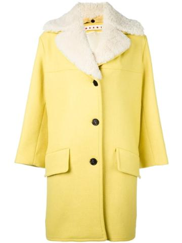 Marni Shearling Trim Coat