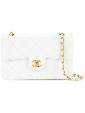 Chanel Vintage Diamond Stitch 23 Handbag - White