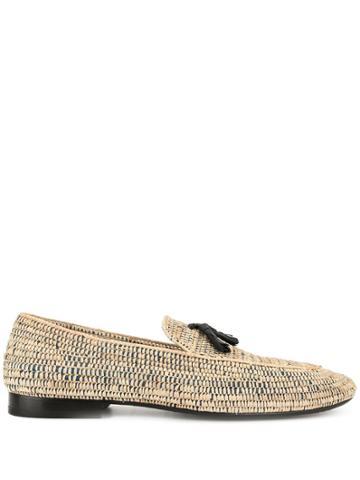 Casablanca Woven Tassel Loafers - Brown