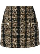 Balmain Tweed Mini Skirt - Metallic