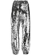 Msgm Sequin Track Pants - Metallic