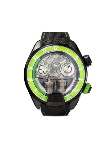 Hyt Green And Black H4 Titanium Watch