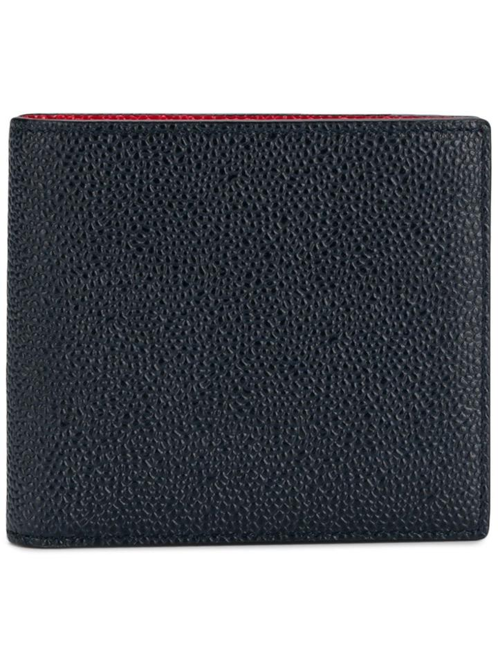 Thom Browne Foldover Wallet - Blue