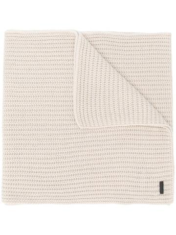 Iris Von Arnim Chunky Knit Scarf - Nude & Neutrals