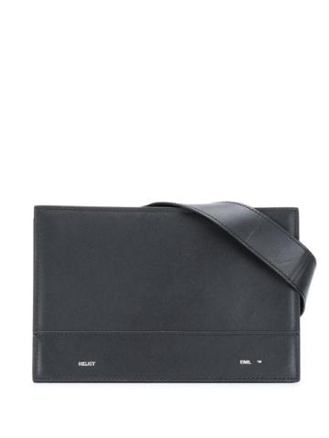 Heliot Emil Logo Plaque Belt Bag - Black