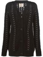Laneus Studded Cable Knit Cardigan