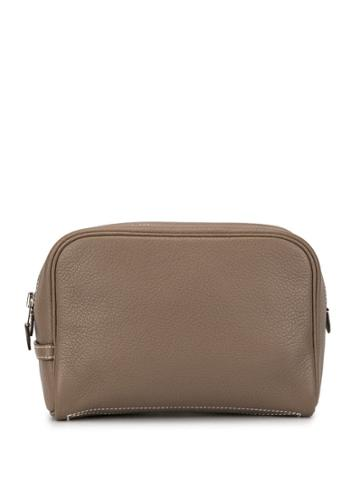 Hermès Pre-owned Trousse Victoria Pm Cosmetic Bag - Brown