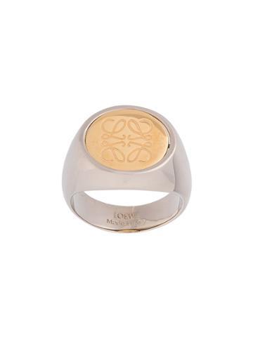 Loewe Engraved Signet Ring - Silver