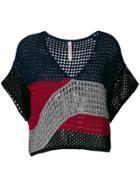 Antonio Marras Open Weave Knit Top - Multicolour