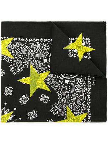 Guild Prime Patterned Star Print Scarf - Black