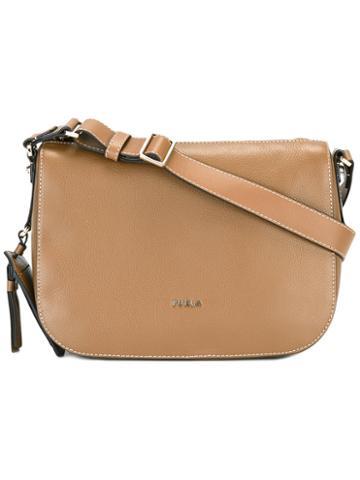 Furla Classic Shoulder Bag, Women's, Brown, Calf Leather
