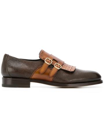 Santoni Double-buckle Shoes - Brown