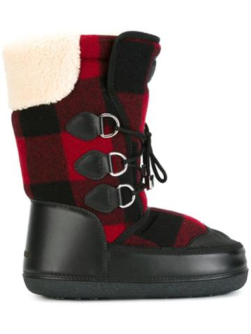 Dsquared2 Ski Snow Boots, Black, Calf Leather/elastodiene/polyester/virgin Wool