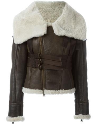 Dsquared2 Shearling Collar Zipped Jacket