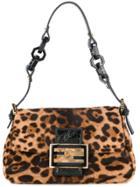 Fendi Vintage Leopard Mamma Bucket Bag - Brown