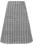 Derek Lam Patterned A-line Skirt
