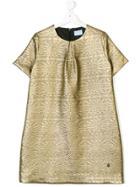 Lanvin Petite Patterned Shift Dress - Metallic