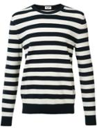Saint Laurent Striped Sweater, Men's, Size: Medium, Black, Cashmere/wool