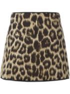 No21 Leopard Print Skirt
