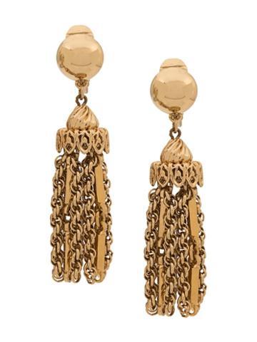 Monet Pre-owned 1970s Monet Tassel Earrings - Gold
