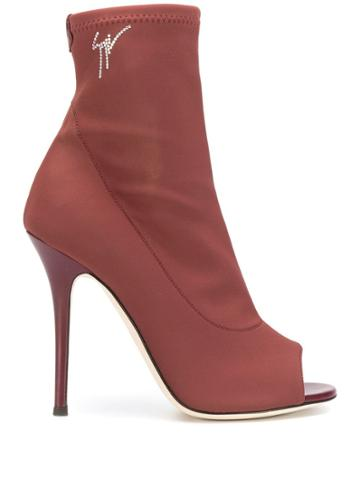 Giuseppe Zanotti Lacey Sock Boots - Red