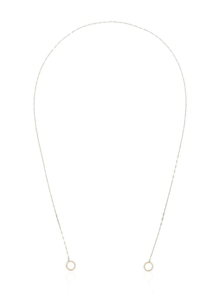 Marla Aaron Lightning Bolt Necklace - Metallic